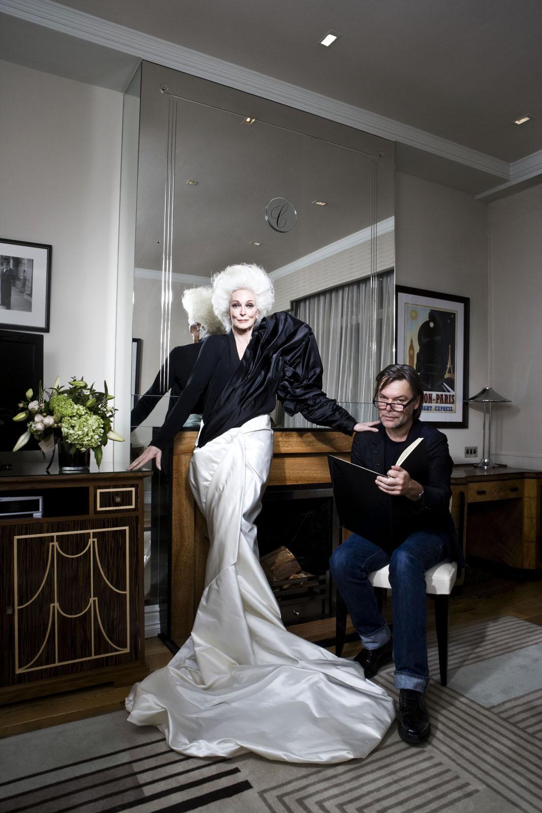 Carmen Dell'Orefice and David Downton for ELLE magazine